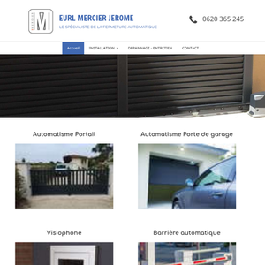 EURL MERCIER JEROME Collorgues, installation de portail ou porte de garage